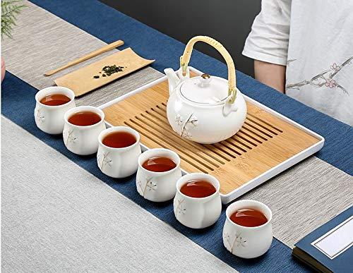 BESTLEAFTEA- Porcelain Tea Set Ceramic Teapot TeaCup KongFu Porcelain Tea Set (White) from BESTLEAFTEA