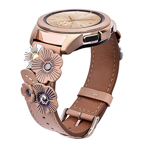 V-MORO Leather Strap Compatible with Galaxy Watch
