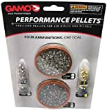 Gamo 63209285554 .22 Caliber Performance Pellets - Combo Pack (Platinum, Armor PBA, Raptor PBA, Rocket)