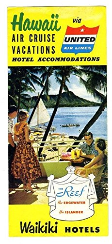 amazon com united airlines hawaii air vacations brochure the reef