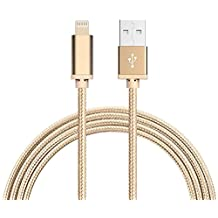 Lightning Cable, VPR 1Pack 10 FT iPhone Charger Cord nylon braided for Apple iphone SE, iPhone 7, 6s, 6s+, 6+, 6,5s 5c 5,iPad Mini, Air, iPad 6, iPod (Gold)