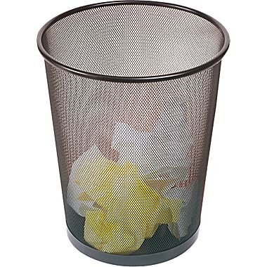 Brighton Professional Black Wire Mesh Round Wastebasket, 5 g