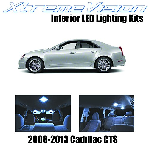 XtremeVision Interior LED for Cadillac CTS 2008-2013 (13 Pieces) Cool White Interior LED Kit + Installation Tool ()