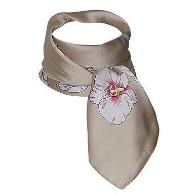 Chapeau-tendance - Foulard hôtesse floral beige - - Femme  Amazon.fr ... d05c69d7472