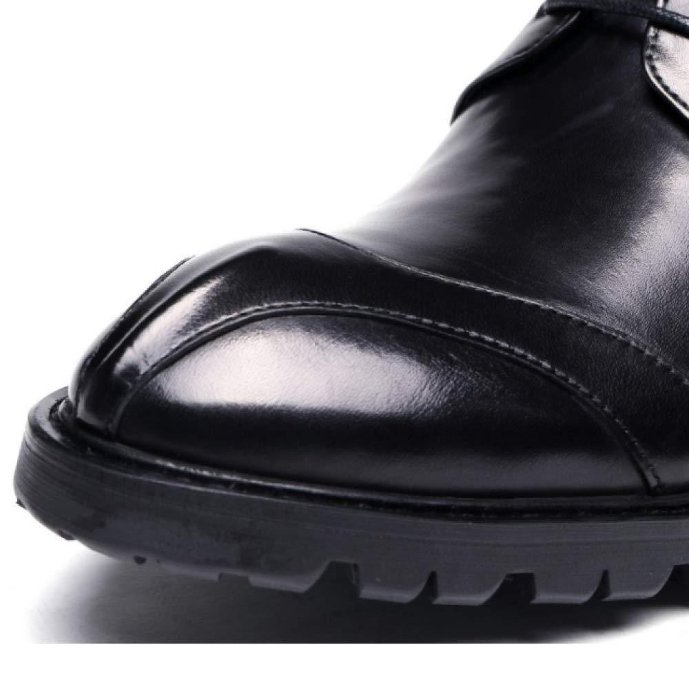 XDLJL Europäische Version der Herrenschuhe Business Kleid Herrenschuhe mit Dickem Herrenschuhe Boden Runden Kopf mit Herrenschuhe Dickem WineROT 71ef6f