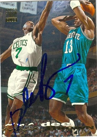 Boston Celtics Autographs (Autograph Warehouse 44742 Dee Brown Autographed Basketball Card Boston Celtics 1993 Topps Stadium Club No)
