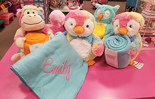 Personalized Huggable Friends and Throw Tie Dye Penguin