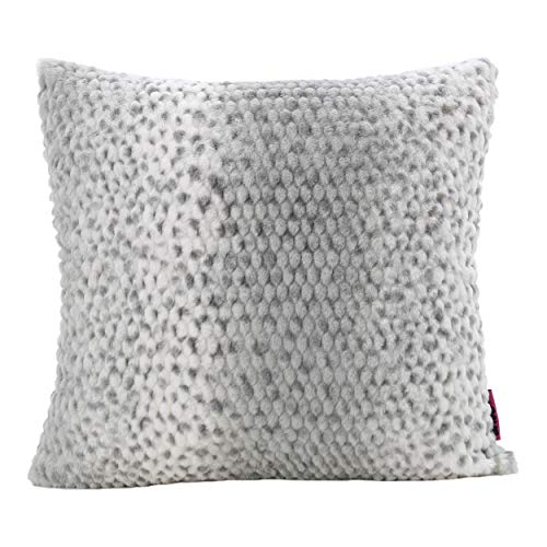 Christopher Knight Home Ellison Silver Dusk Decorative Faux Fur Fabric Throw Pillow Ideal for The Living Room or Bedroom Plush Texture