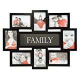 Kiera Grace Marco para Collage Familiar, 17.5 x 22 Pulgadas, para Fotos de 8-4 x 6 Pulgadas, Color Negro