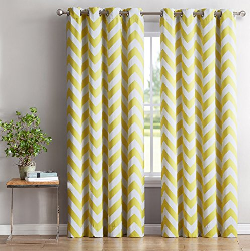 insulated yellow curtains - 4