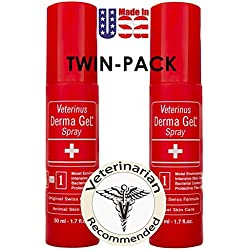 Veterinus Derma GeL® - Natural Spray 50mL - 1.7 fl.oz. (TWIN-PACK of 2 x 50mL)