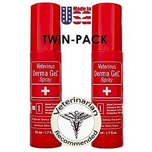 Veterinus Derma GeL - Natural Spray 50mL - 1.7 fl.oz. (Twin-Pack of 2 x 50mL) 50