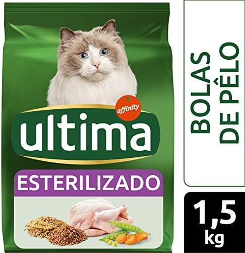 ultima Pienso para Gatos Esterilizados Bolas de Pelo con Pavo - 1500 gr: Amazon.es: Alimentación y bebidas
