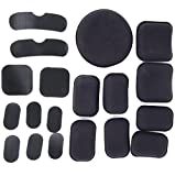 TFWADMX Helmet Pads Replacement Bike Motorcycle Padding Kit Tactical Helmet EVA Foam Insert Bicycle Accessories Soft and Durable (19pcs)