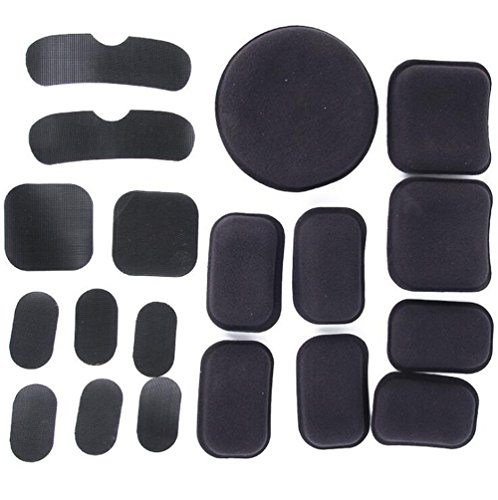 Helmet Pads Motorcycle - Tfwadmx Helmet Pads 19pcs/Replacement Bike Motorcycle Padding Kit Tactical Helmet EVA Foam Insert Bicycle Accessories Soft and Durable, Helmet Foam Pads for MICH Army ACH USMC PASGT