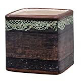 Heart of America Wood & Lace Square Crock