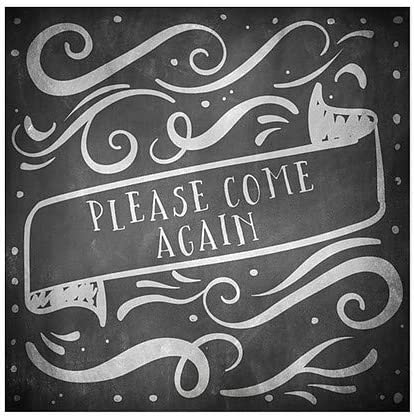 Please Come Again Basic Black Window Cling 16x16 5-Pack CGSignLab