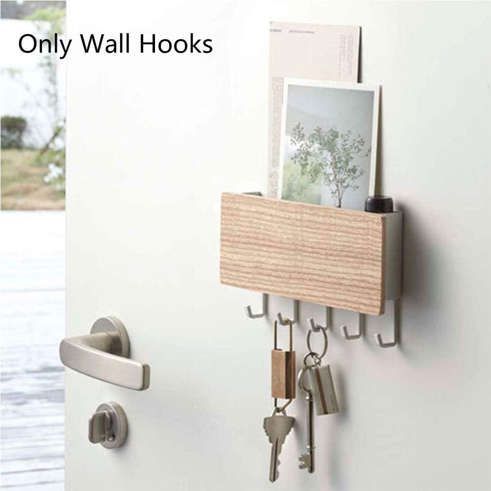 w5bhj88 Wood Wall Mounted Key /& Mail Holder Organizer Black Decorative Storage Rack Keys Hanger for Hallway Entryway Office Wooden Wall Shelf with 5 Hooks and Storage Box