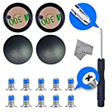4 x Rubber Case Feet pad Set with 10 x Bottom Base Screws (10 Short) and Philips Screwdriver Kit Set for Macbook Pro A1398 A1502 A1425 13 and 15 inch incl. cleaning Cloth