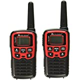Midland - X-TALKER T31VP, 22 Channel FRS Walkie Talkie - Up to 26 Mile Range Two-Way Radio, 38 Privacy Codes, NOAA Weather Alert (Pair Pack) (Black/Red)