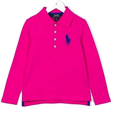 Polo Ralph Lauren - Camiseta de Manga Corta - para niña Rosa Rosa ...