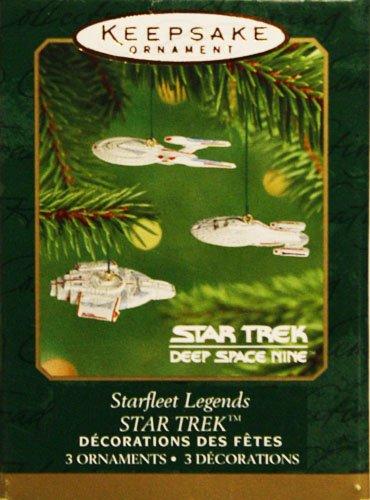 Starfleet Legends - Star Trek Deep Space Nine - Hallmark Keepsake Ornament Set of 3