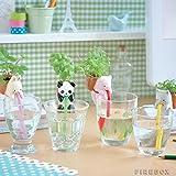 4Pieces/Set Ceramic Creature Mini Backpack Plant Pot Chuppon Self Watering Animal Planter- Pig+Cat+Rabbit+Panda