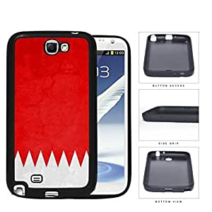 Bahrain Flag Five Triangles Red and White Grunge Hard Rubber TPU Phone Case Cover Samsung Galaxy Note 2 N7100 WANGJING JINDA