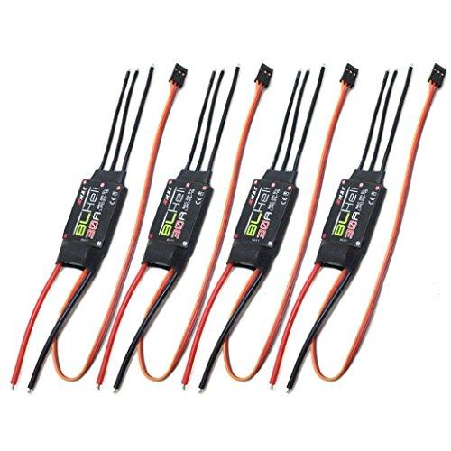 Esc Controllers (YJYdada 4X EMAX BLHELI 30A esc Bec 2A5V Speed Controller For FPV RC QAV250 Quadcopter)