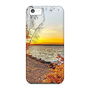 Tpu Shockproof/dirt-proof Sunset On An Autumn Lake Cover Case For Iphone(5c)