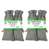 Image of Shoes Odor Absorber, Pet Odors Eliminator All Natural Bamboo Charcoal Bag Moisture Absorber Air Freshener and Closet Deodorizer - 300g / 4 pack - LASTS UP TO 2 YEARS