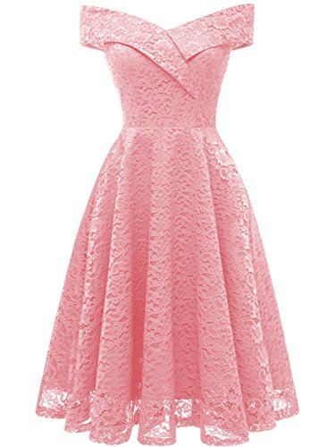 IHouse Women Short Cute Semi Formal Dress Ball Party Gown Pink