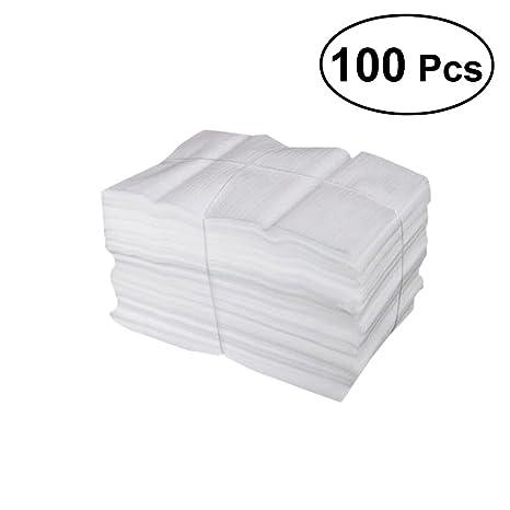 VORCOOL 100 bolsas de espuma de almohada, proteger tazas, jarras, porcelana y platos