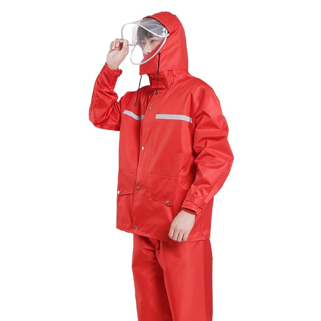 B Medium W-yuyi Imperméable imperméable Veste de Pluie Costume Pantalon de Pluie Fendu épaississeHommest extérieur Corps d'équitation (Couleur   A, Taille   XXXL)