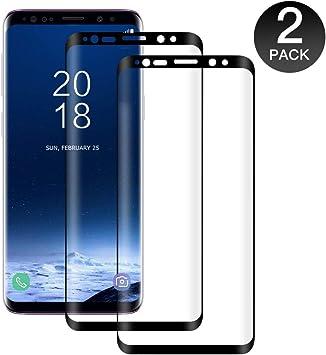 POOPHUNS 2-Unidades Cristal Templado Samsung Galaxy S9, Protector ...