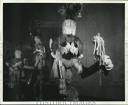 1982 Press Photo The mysterious Wolligogs, 102 life-size marionettes, Pinocchio (Marionette Pinocchio)