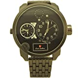 Luis Cardini Fashion style Two Time Zone Men`s Watch black - 2