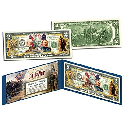 The American CIVIL WAR * 150th Anniversary * OFFICIAL Legal Tender $2 U.S. Bill: Everything Else
