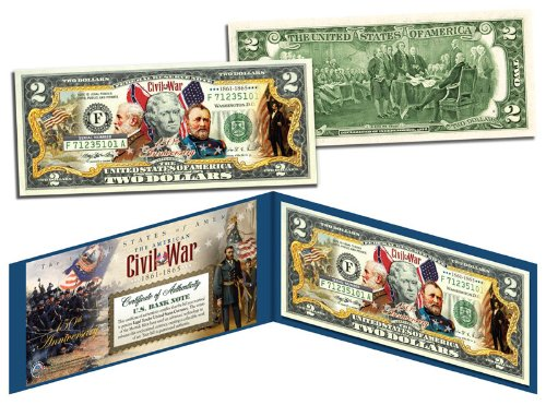 (The American CIVIL WAR * 150th Anniversary * OFFICIAL Legal Tender $2 U.S. Bill )