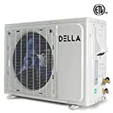 Della 12000 BTU Mini Split Air Conditioner Ductless Inverter System 22 SEER 208-230V with 1 Ton Heat Pump, Pre-Charged Condenser and Full Installation Kit with Accessories AHRI