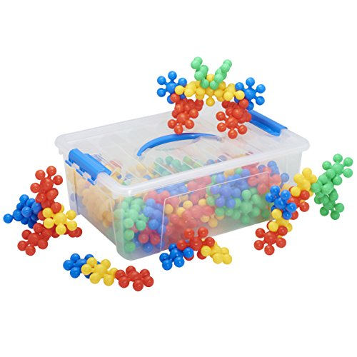 ECR4Kids Silly Star Connector Math Manipulatives Building Kit, Educational Sensory Learning Toys for Children (116-Piece Set)
