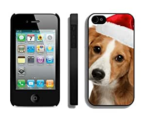 Popular Design Christmas Dog iPhone 4 4S Case 10 Black
