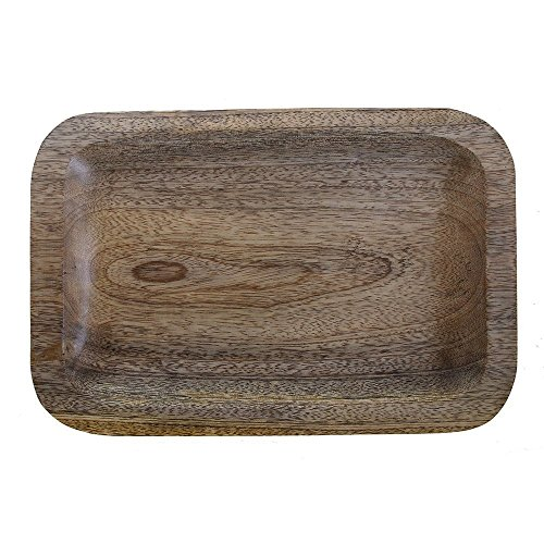 Country Style Wooden Large Serving Platter Dish Tray for Fruits Snacks Appetizer Dessert - Kitchen Dining Serveware Accessories