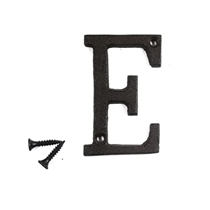 3 vintage decorative cast iron metal alphabet letters wall sign hanging address name sign letter