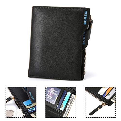 836 Coin Carte Pu Hommes Argent Baborry Portefeuille monnaie Mode Sac Porte Pochettes Avec Zipper Cadeau vqArwv1Bx