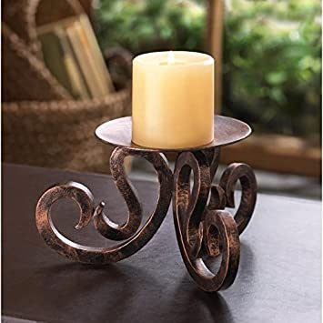 High Quality Candles SANTA ROSA CANDLE STAND Iron Metal Candleholder Table Desk Mantle  Gift