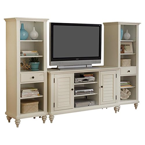 Entertainment Center Made of Manufactured Wood The Tv Stand and the Side Shelves can be Separated Removable Legs Shutter Doors and Turned Feet - 64' Entertainment Center Tv Stand