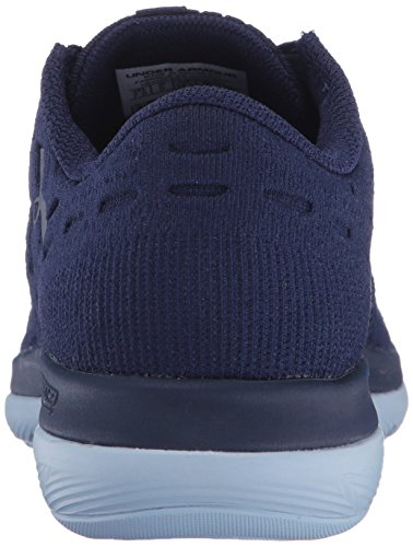 Under Armour Women's Slingflex Running Shoe, Black, M US Midnight Navy/Chalk Blue