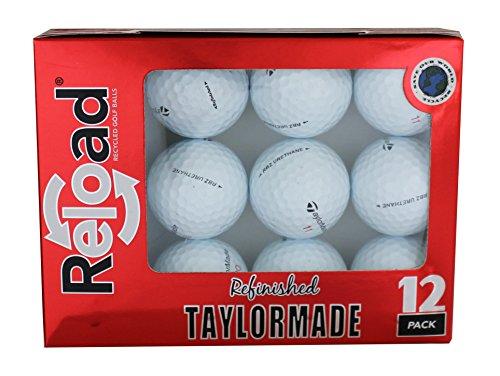Recargue las pelotas de golf recicladas Taylormade Rocketballz Urethane reacondicionó las pelotas de golf (paquete de 12)