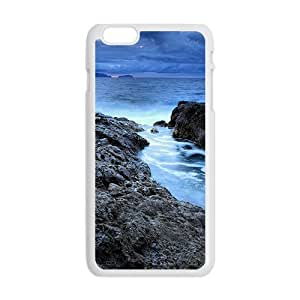 Blue Sea And Sky White Phone Case for Iphone6 plus